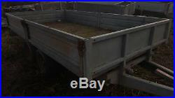 10 ft flat bed drop side, car trailer twin axle 6 ft wide flat bed 2700kg