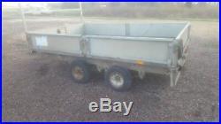 10 ft x 6 ft ifor williams dropside trailer ladder rack