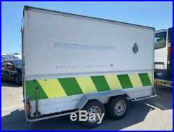 12ft 2 Axle 4 Wheel Box Trailer With Rolla Shutter