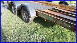 14 ft x 6ft twin wheel car transporter tyres like newsolid trailer