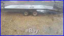 16 Ft Tilt Bed Heavy Duty Car Transporter Trailer Twin Axle Ramps
