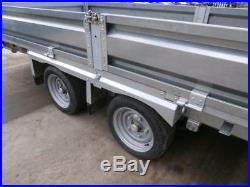 16ft Indespension Flat Bed Trailer 3.5 Ton Transport Plant Car Garden Builders
