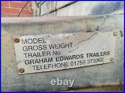 16ft trailer, tri axle, 3500kg