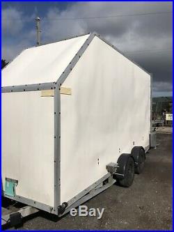 16ft twin axle box trailer