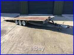 16x7 Brian James Tilt Bed Car Transporter/ Car Trailer, Tri Axle, Flatbed Trailer