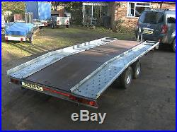 2009 S. G. M. 2000kg 14ft Beavertail Car Transporter Trailer With Ramps/winch