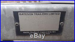 2014 Bateson Braked Box Trailer Twin Axle Excellent Condition