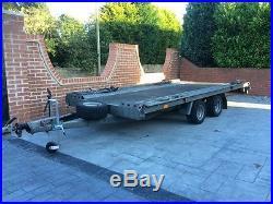 2016 alko car transporter trailer no vat 4m x 2m bed