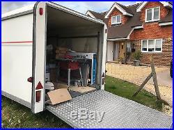 24 ft box trailer, car racing, transporter