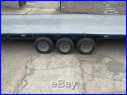 25 foot car transporter flat bed trailer