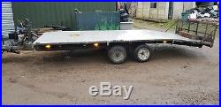 3500kg 3.5 t hydraulic lift twin axle car trailer with straps
