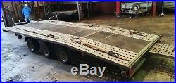 3500kg trailer Car Transporter beaver tail tri axle