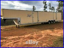 48 Ft Enclosed Two Car Gooseneck Trailer Used Car Trailers