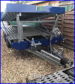 4 wheel twin deck car tariler/transporter