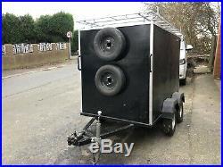 7 X 4 Twin Axle Box Trailer