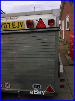 AJC TWIN AXLE BOX TRAILER 8ft x 5 ft wide