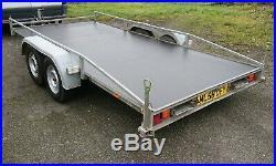 Anssems 13ft x 6ft 2000kg car transporter trailer plant trailer No Vat, Rochdale