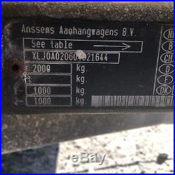 Anssems Bsx2000 car trailer Twin Axle Braked, Lighter than Ifor Indespension