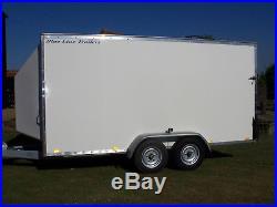 BLUE LINE BLV35146 3500kg BRAKED TRANSPORTER BOX VAN TRAILER WITH RAMP