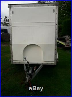 BLUE LINE Box trailer TOW A VAN 8X5X6 BRAKED TWIN AXLE TOWS SUPERB CAN DELIVER