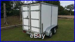 BRENDERUP TWIN AXLE BOX TRAILER TWIN REAR DOORS 1500kg GROSS