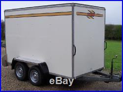 Bateson 300v Twin Axle Braked Motorbike Goods Transporter Box Van Trailer
