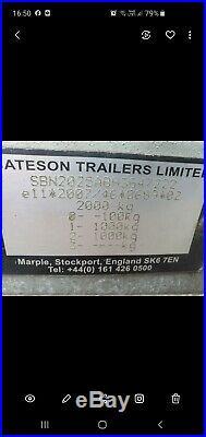 Bateson Platform Trailer 8 X 5