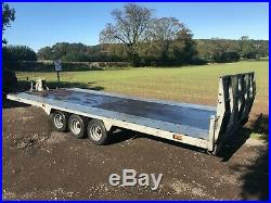 Bateson Tri Axle Car Vehicle Transporter Tip Tilt Trailer 16ft