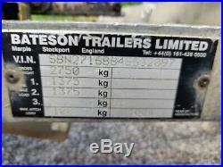 Bateson Twin Axle, Hydraulic tilt bed car trailer, good strong trailer