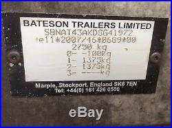 Bateson tilt bed trailer with ramps And Removable Sides