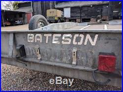 Batson tilt bed car transporter / trailer, 4 wheel, manual winch