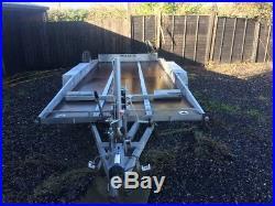 Batson twin axel hydraulic car trailer
