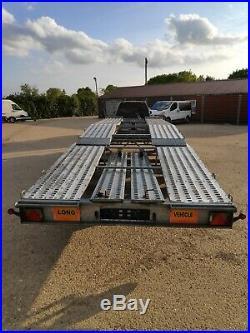 Big car transporter trailer