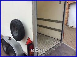 Blue line box trailer, like Ifor Williams car boot race bike