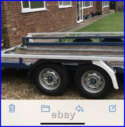 Blue line trailer Twin Tandem axle car transporter