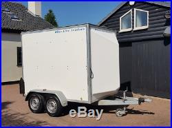 Blueline 8ftx5ft Twin Axle Car Box Trailer Box Van Blue Line Towavan Great Cond