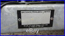 Box Trailer 750kg twin axle unbraked Bateson 120v 115cm x 205cm