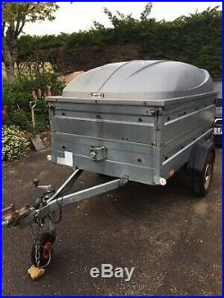 Brenderup 1205S Camping Trailer with Extra Section And Official ABS lockable lid