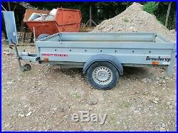 Brenderup 2260s galvanised, braked trailer, 8'6L x 4'4W