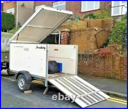 Brenderup Box Trailer Cargo 2205 with Ramp Camping /bike / scooter / motorcycle