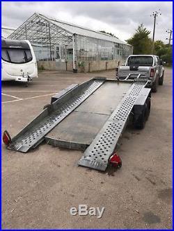 Brenderup Car Transporter Tilt Bed Recovery Trailer