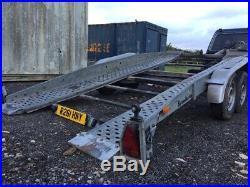 Brenderup Hydraulic Tilt Bed Car Transporter Trailer