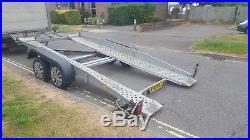 Brenderup Tilt Bed Car Transporter Trailer + Winch + Spare wheel
