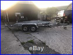 Brenderup Tilt Bed Twin Axle Galvanised Car Transporter Trailer Winch 14 Ft