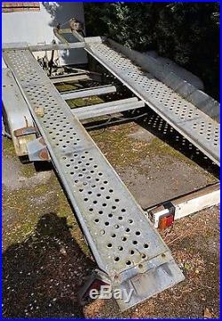Brenderup car transporter tiltbed trailer