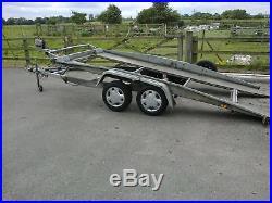 Brenderup tilt bed twin axle braked trailer car transporter
