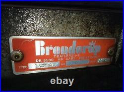 Brenderup tilting car trailer twin axle