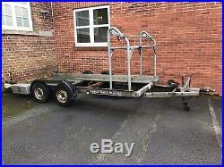 Brian James 185 Car Transporter Trailer With Wheel Rack