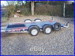 Brian James C4 Blue 126-2112 Car Transporter Trailer 8ft Ramps