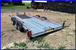 Brian James C4 Blue Car Transporter Trailer 2014 No Vat